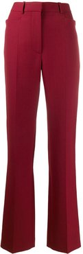 kick-flare leg trousers - Red