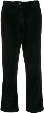 cropped corduroy trousers - Black
