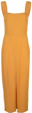 front slit midi dress - Yellow