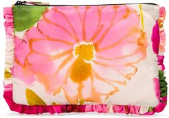 floral zipped clutch - PINK