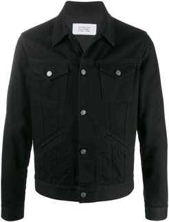 pocket detail denim jacket - Black