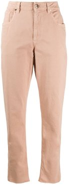 high-waisted trousers - PINK