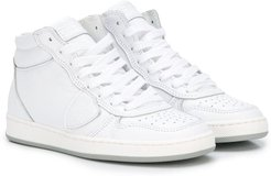 high-top lace-up sneakers - White