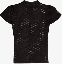 fitted mesh T-shirt