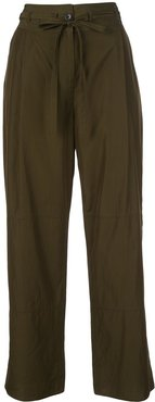 wide-leg panelled trousers - Green
