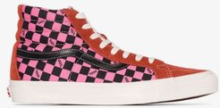 Multicoloured SK8 check high top sneakers