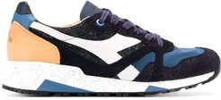 textured panel sneakers - Blue