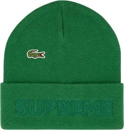 x Lacoste knitted beanie - Green