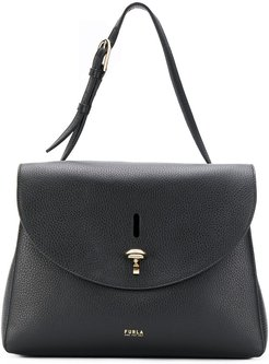 top handle tote - Black
