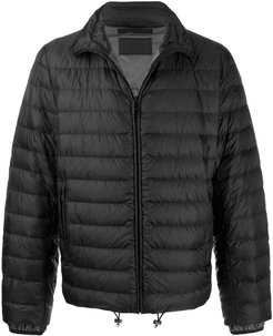 short quilted puffer jacket - Black