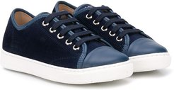 logo low-top sneakers - Blue