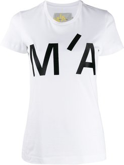 embroidered logo crew-neck T-shirt - White