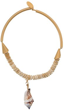 shell pendant necklace - GOLD
