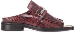 snakeskin-effect sandals - Red