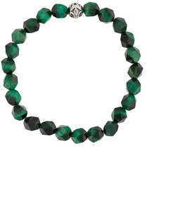 faceted beaded bracelet - Green
