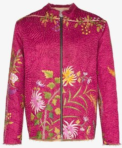 19th Century Embroidered Silk floral jacket