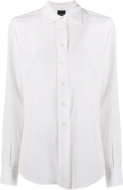 relaxed-fit long sleeve blouse - White