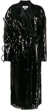 sequin blazer dress - Black