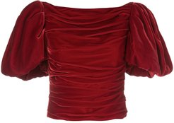 Kai puff-sleeves top - Red