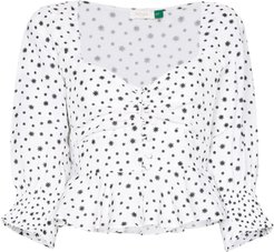Sameera starry button-down top - White