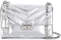metallic quilted bag - SILVER