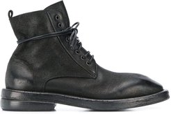 lace up boots - Black