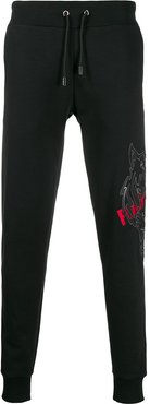 Tiger patch track trousers - Black