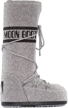 Classic Swarovski-embellished snow boots - SILVER