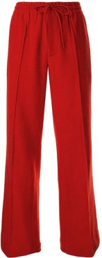straight leg trousers - Red