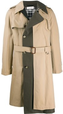 panelled trench coat - Neutrals