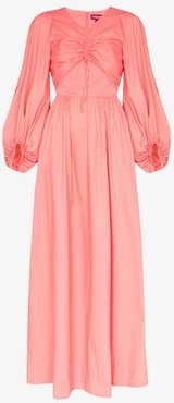 Tangier ruched front maxi dress