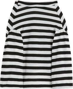 pet long-sleeved striped T-shirt - White