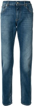 printed detail slim-fit jeans - Blue