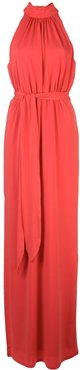 ruched design dress - Red