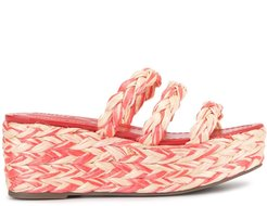 braided wedge espadrilles - Red