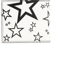 star print bi-fold wallet - White
