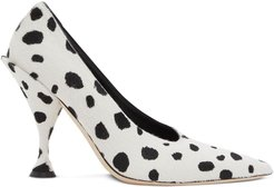 dalmatian print pumps - White