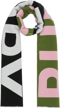 logo oversized scarf - Green
