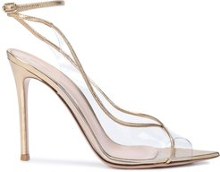 strappy high perspex sandals - GOLD