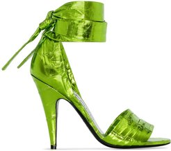 105mm wrap-style sandals - Green