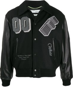 Golden Ratio varsity bomber jacket - Black