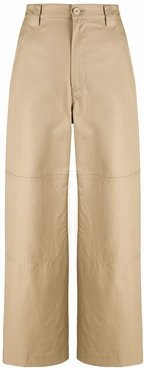 cropped cargo trousers - NEUTRALS