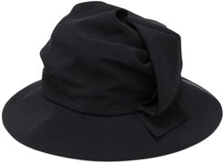 wide brim hat - Black