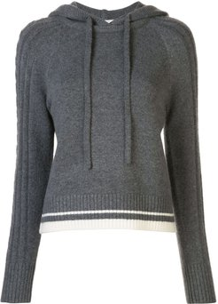 knitted cashmere hooded jumper - Grey