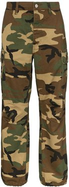 camouflage cargo trousers - Brown