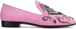 patterned loafers - PINK