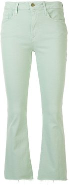 Le Crop Boot Raw Edge jeans - Green