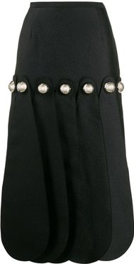 Dome petal midi skirt - Black