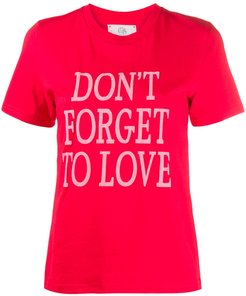 slogan print T-shirt - Red