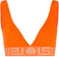 Greek Key bra - ORANGE